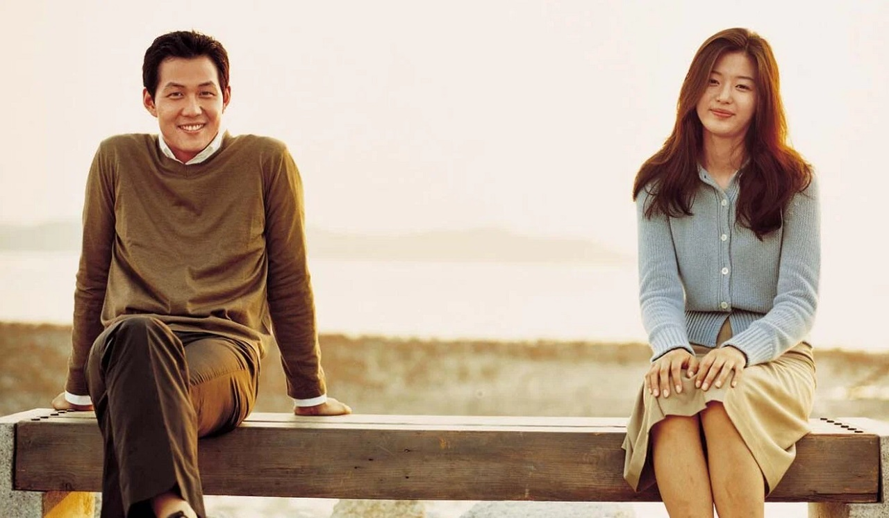Lee Jung-jae and Jeon Ji-hyun in Il Mare (2000)