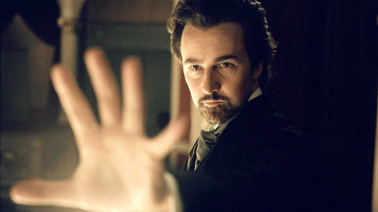 Edward Norton as the stage magician Eisenheim in The Illusionist (2006)