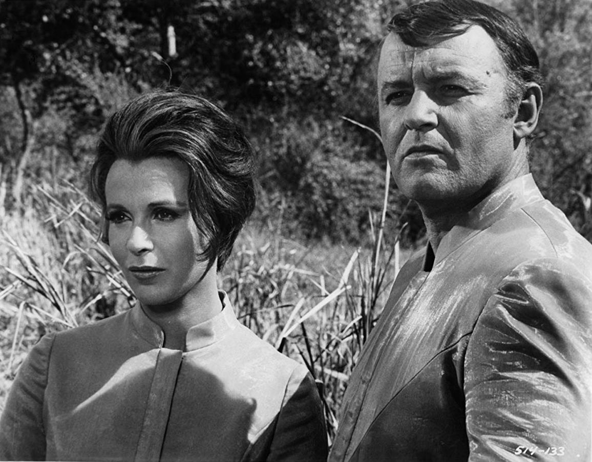 Claire Bloom and Rod Steiger as parents of the future in The Veldt episode in The Illustrated Man (1969)