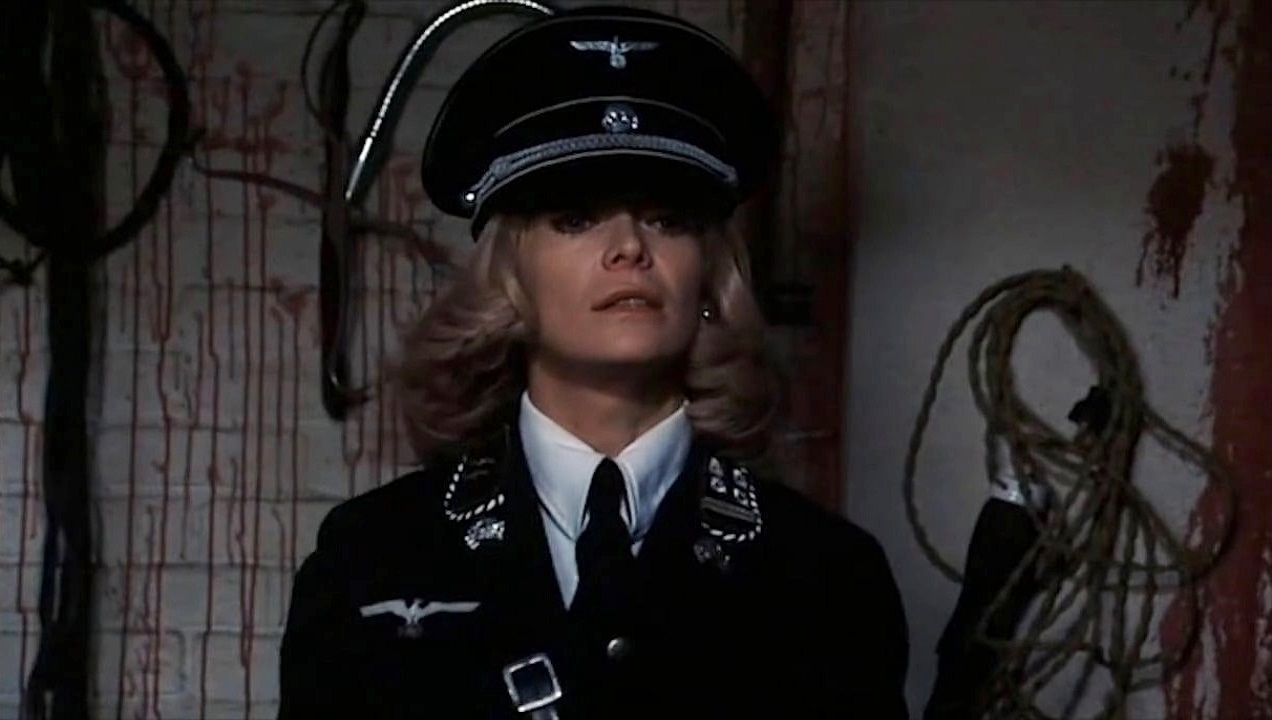 Dyanne Thorne in Ilsa, She Wolf of the SS (1974)
