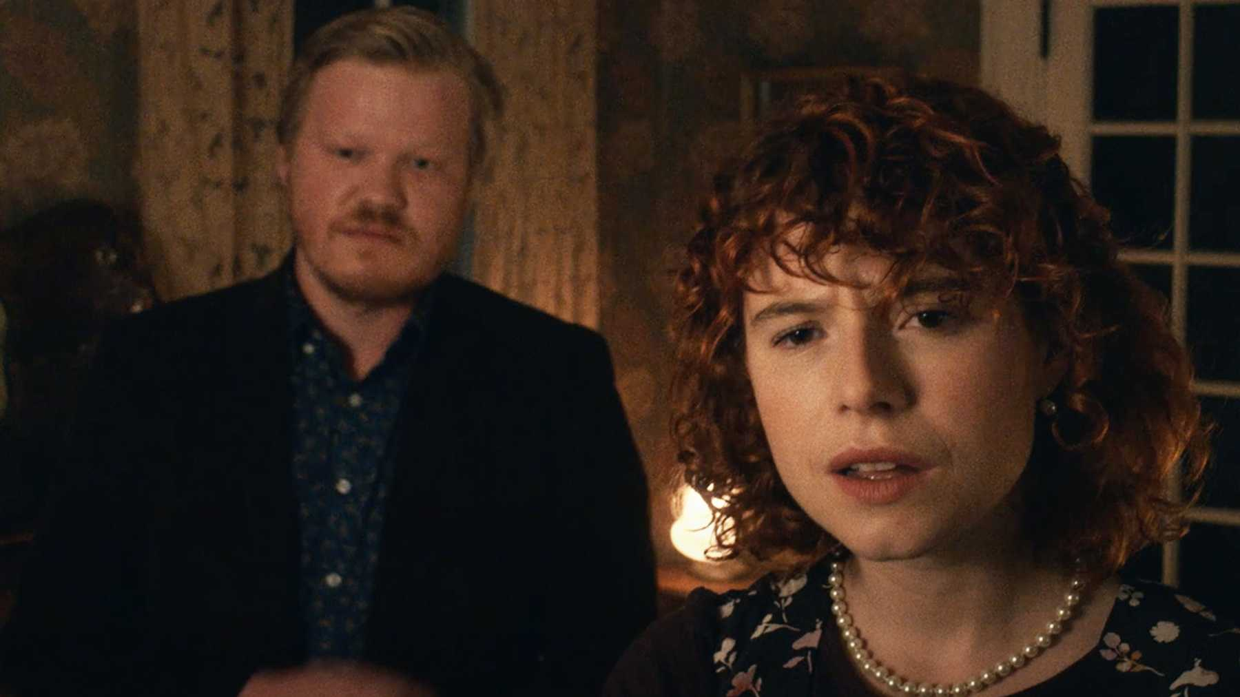 Jake (Jesse Plemons) and his girlfriend (Jessie Buckley) in I'm Thinking of Ending Things (2020)