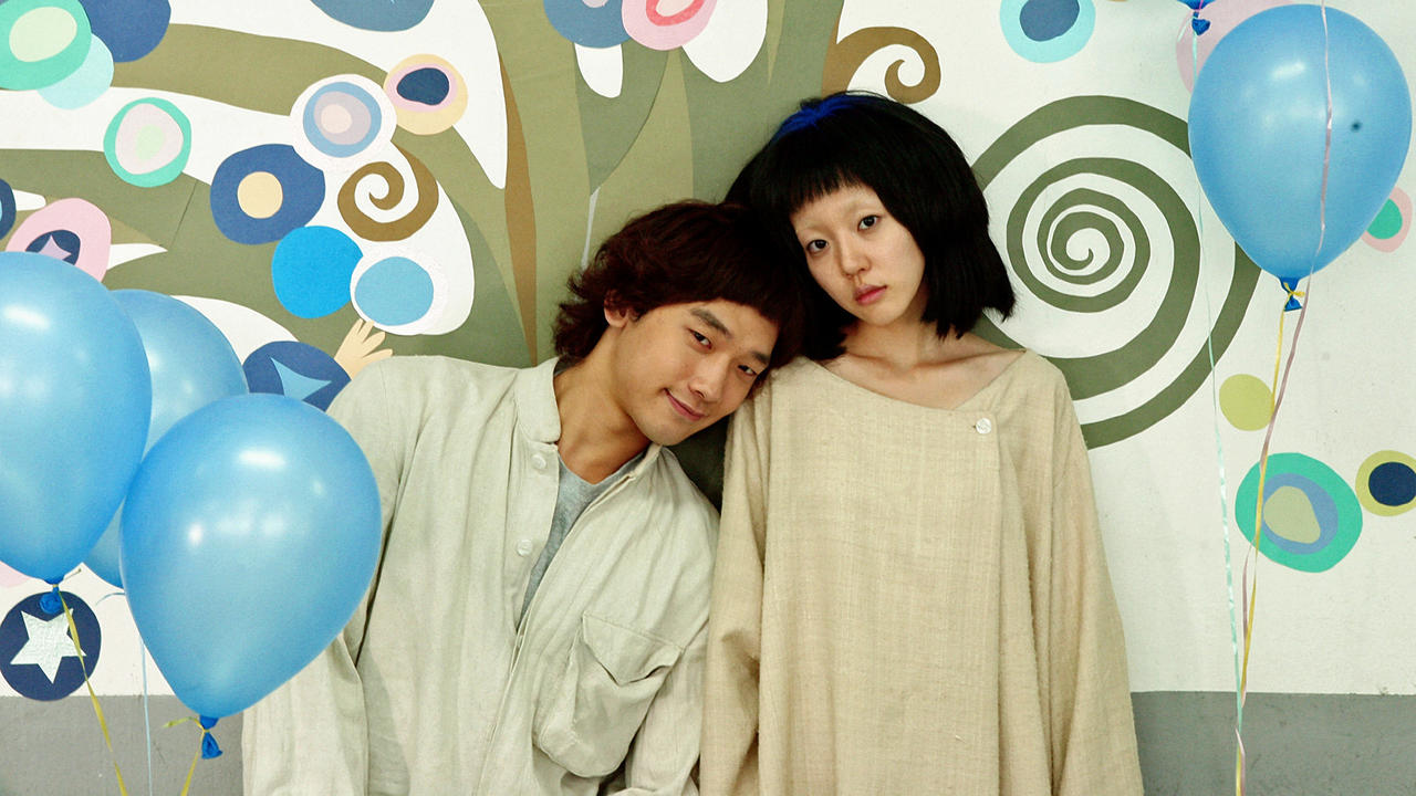 Romance in a psychiatric institution between Rain and Su-jeong Lim in I'm a Cyborg, But That's Ok (2006)