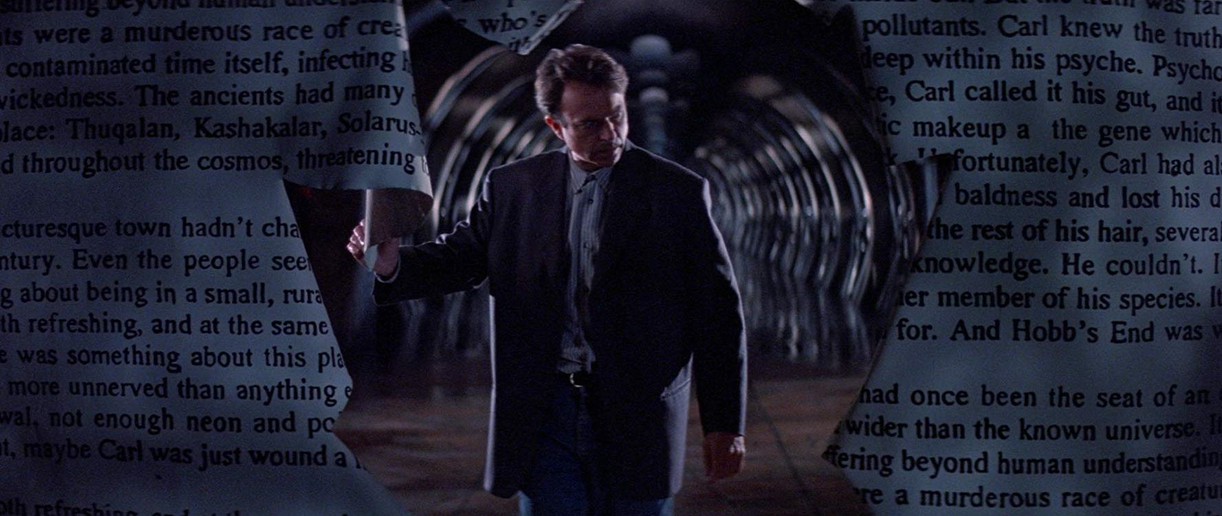 Sam Neill steps through the dividing line between reality and fiction in In the Mouth of Madness (1995)