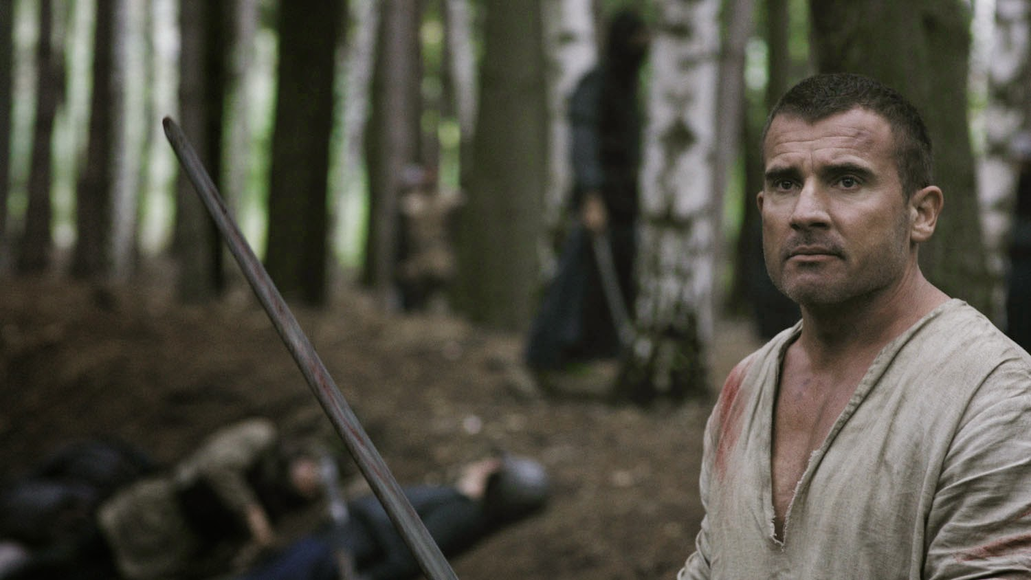 Dominic Purcell as the hitman Hazen Kane displaced into a fantasy world in In the Name of the King 3 (2014)