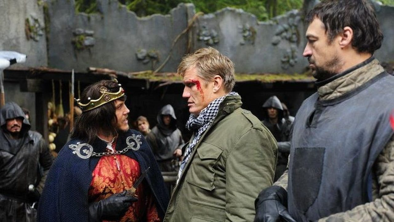 (l to r) King Lochlyn Munro, Granger (Dolph Lundgren) and guard Aleks Paunovic in In the Name of the King: Two Worlds (2011)