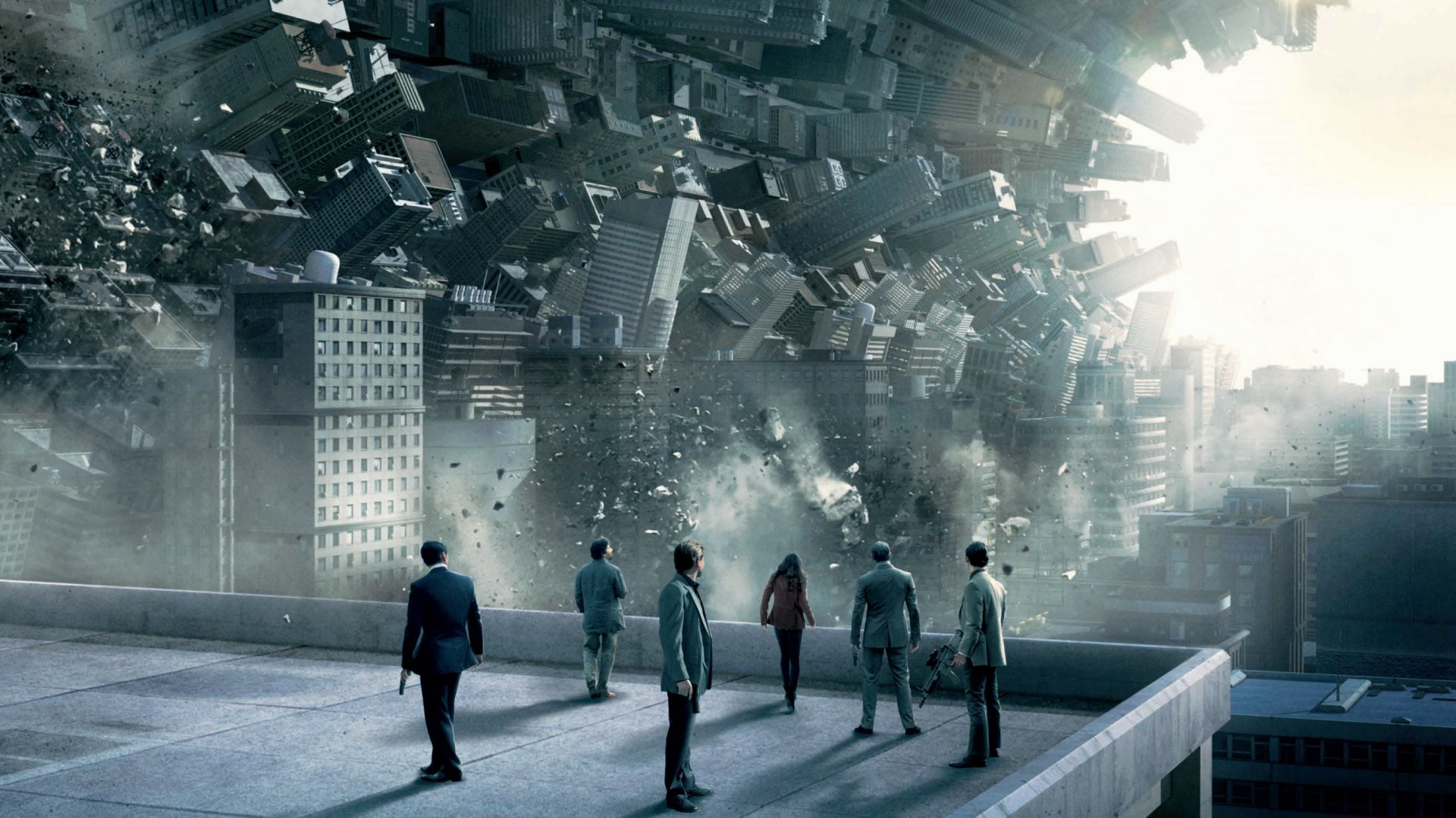Bending city architecture in Inception (2010)