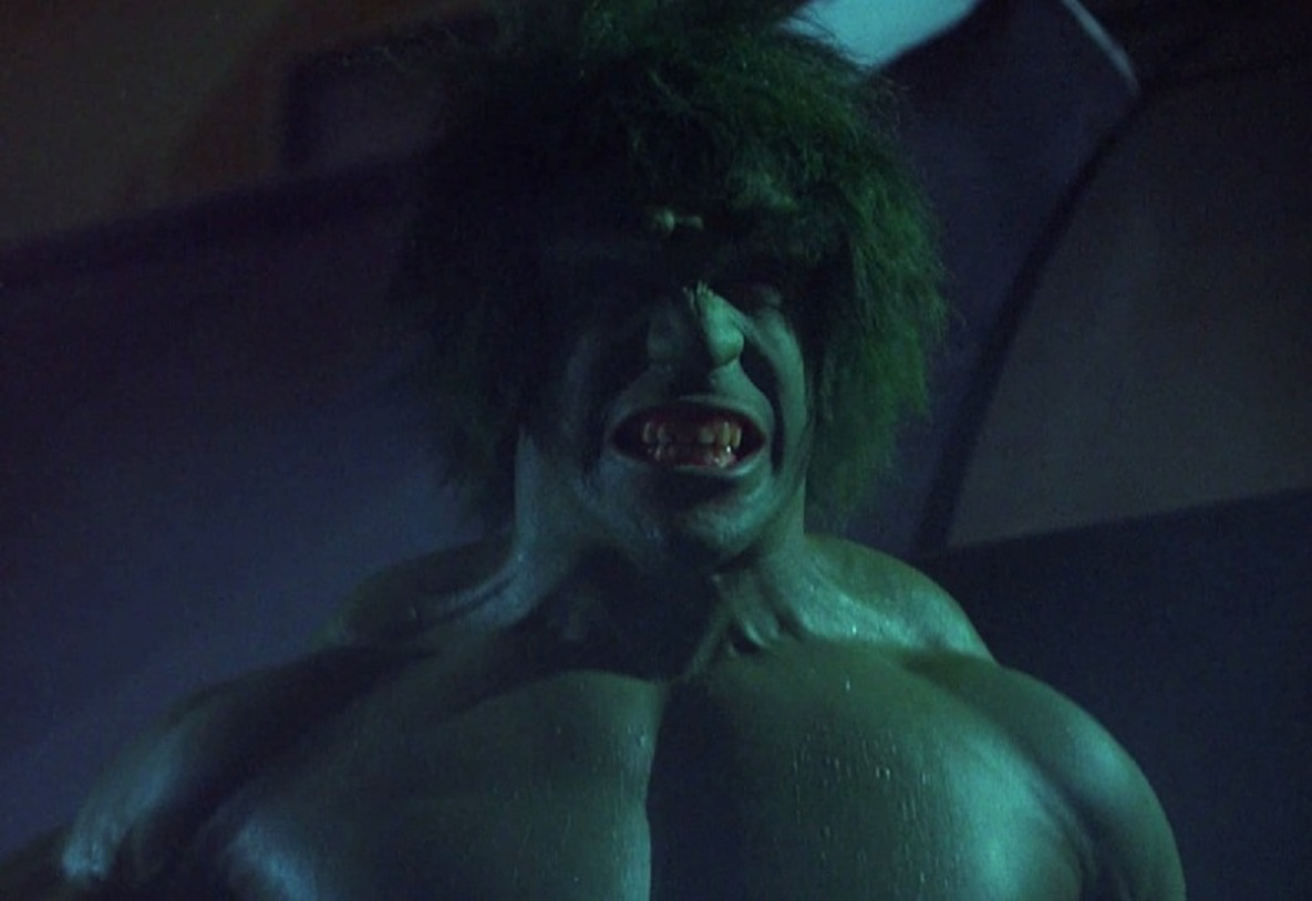 As a result of the experiment, David Banner transforms into The Incredible Hulk (Lou Ferrigno) in The Incredible Hulk (1977)