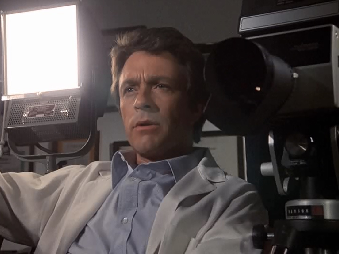 Scientist David Banner (Bill Bixby) subjects himself to a dose of gamma radiation in The Incredible Hulk (1977)