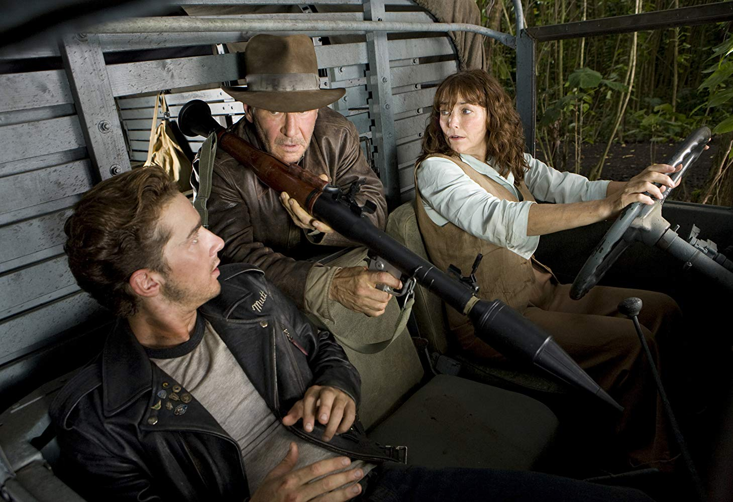 Shia LaBeouf, Harrison Ford, Karen Allen in Indiana Jones and the Kingdom of the Crystal Skull (2008)