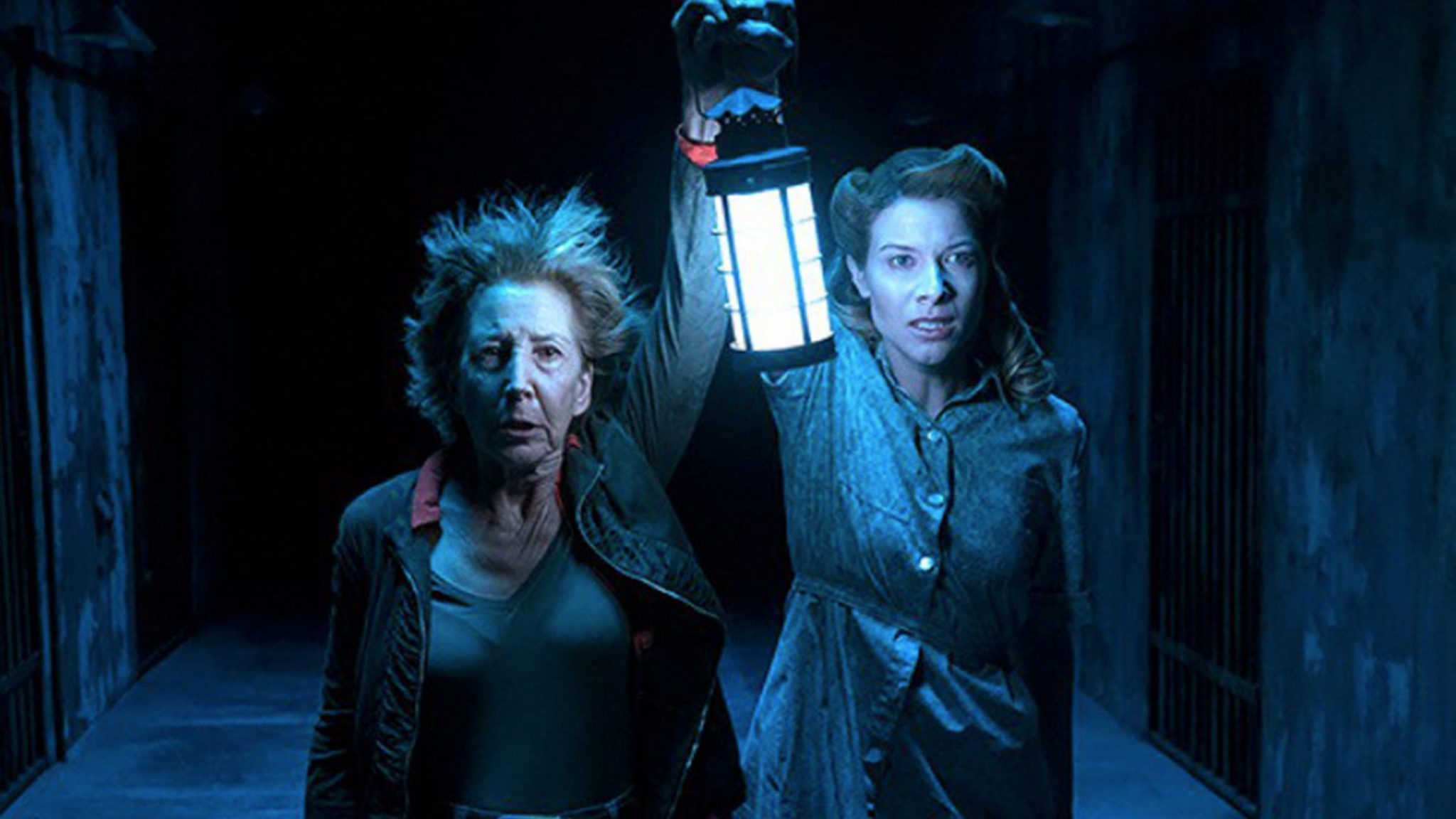 (l to r) Lin Shaye and niece Tessa Ferrer venture further into The Further in Insidious: The Last Key (2018)