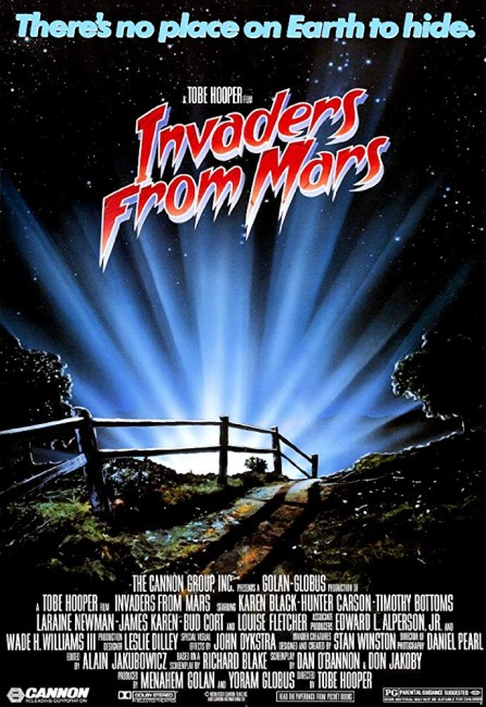 Invaders from Mars (1986) poster