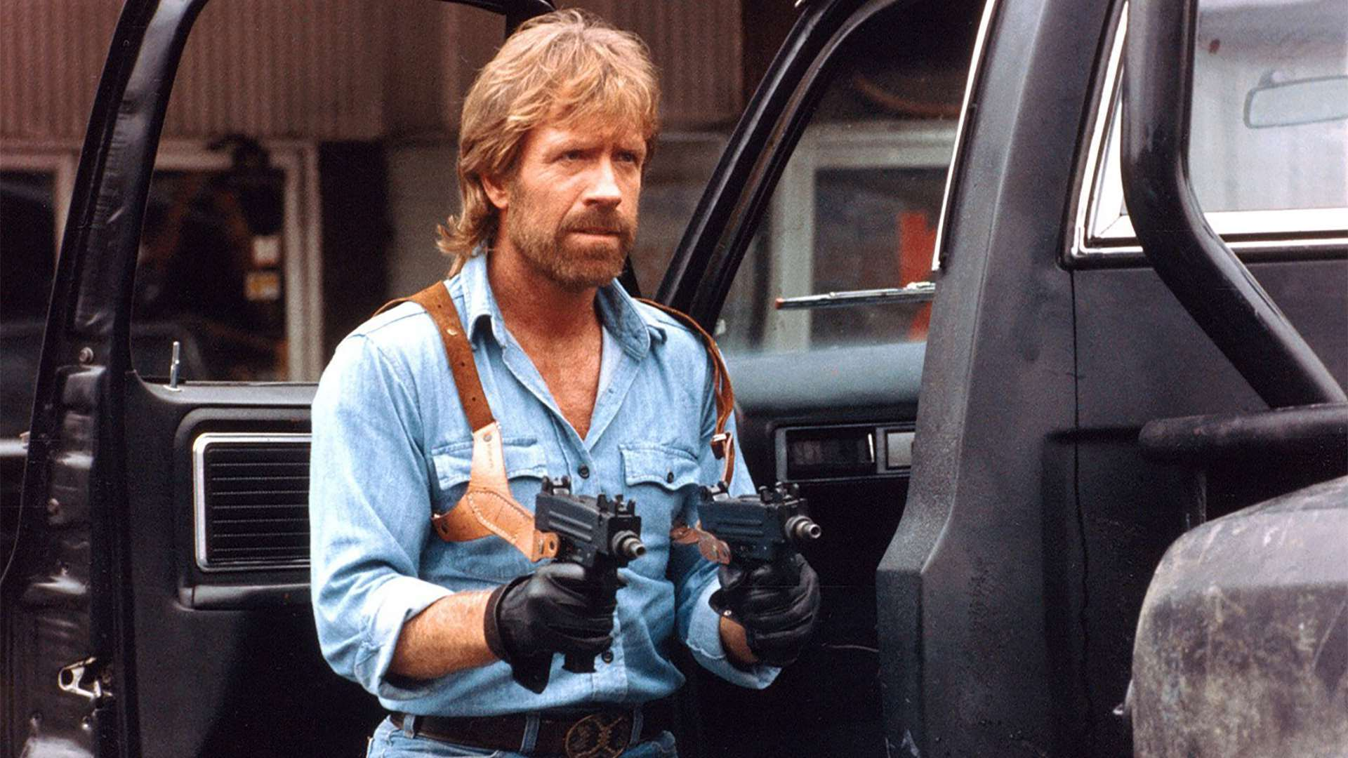 Chuck Norris singlehandedly defeats a Communist invasion of the USA in Invasion U.S.A. (1985)