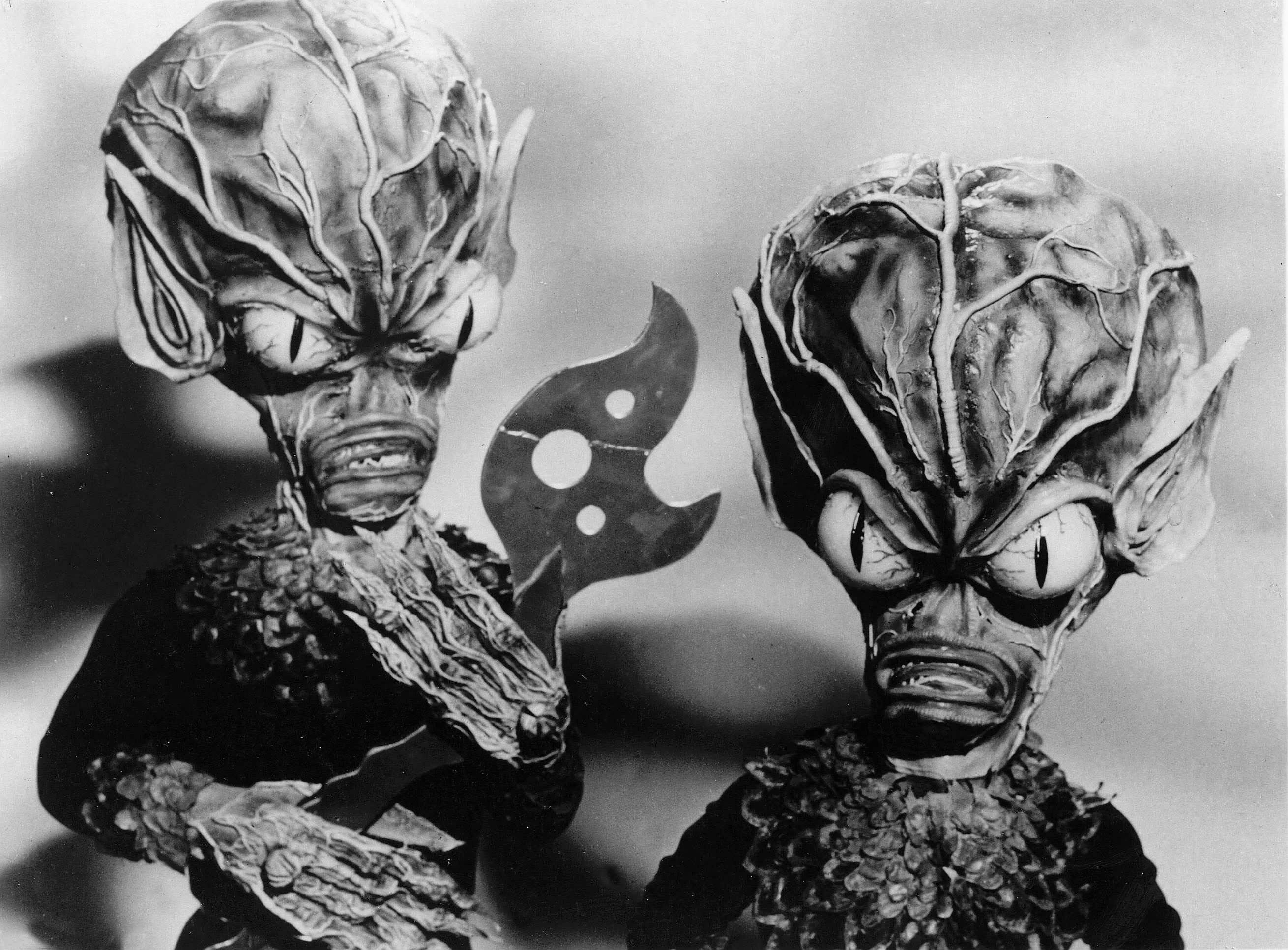 The aliens in Invasion of the Saucer Men (1957)