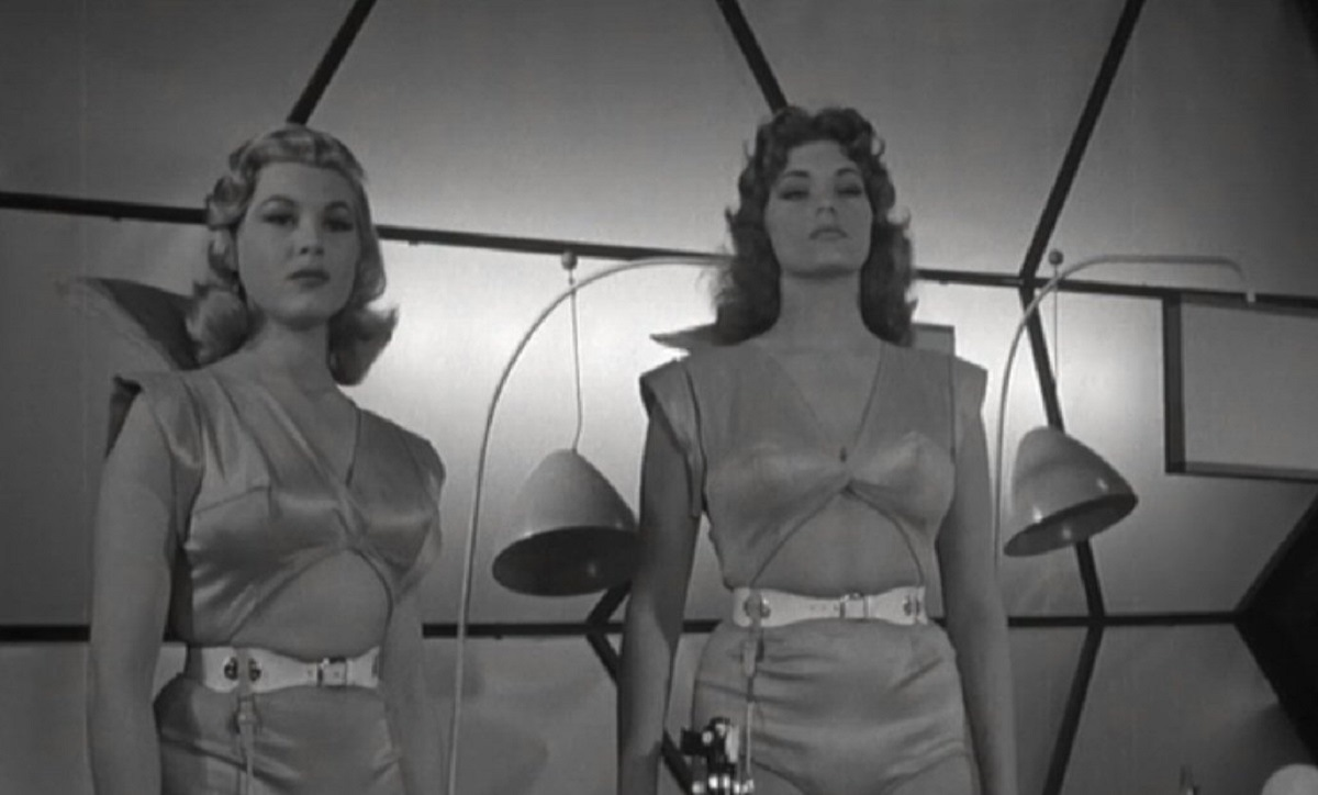 The alien women - (l to r) Professor Tanga (Gloria Victor) and Dr Puna (Dolores Reed) in Invasion of the Star Creatures (1962)