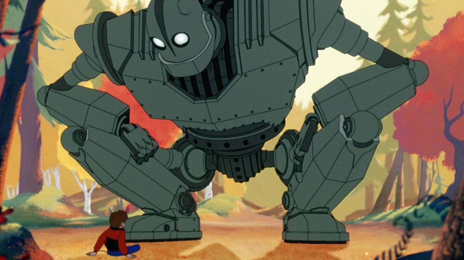 Hogarth befriends the Iron Giant