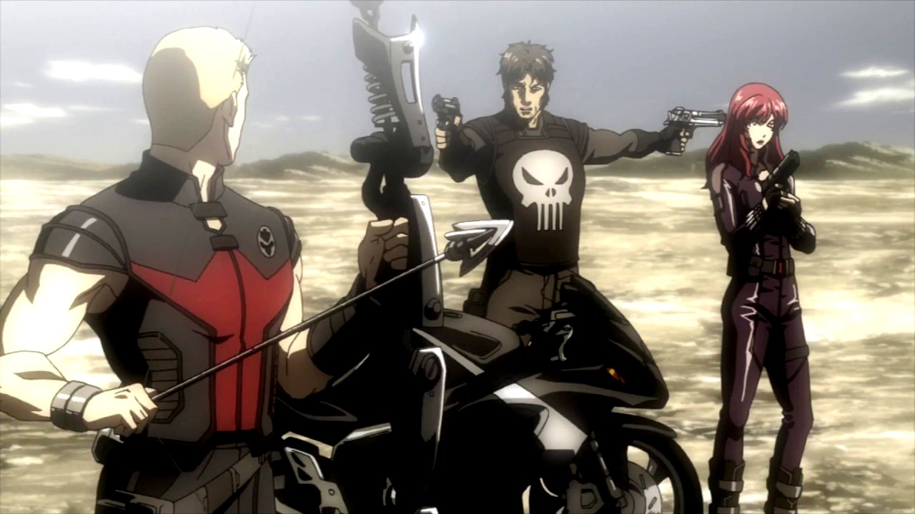 Guest appearances from Hawkeye, The Punisher and Black Widow in Iron Man: Rise of the Technovore (2013)