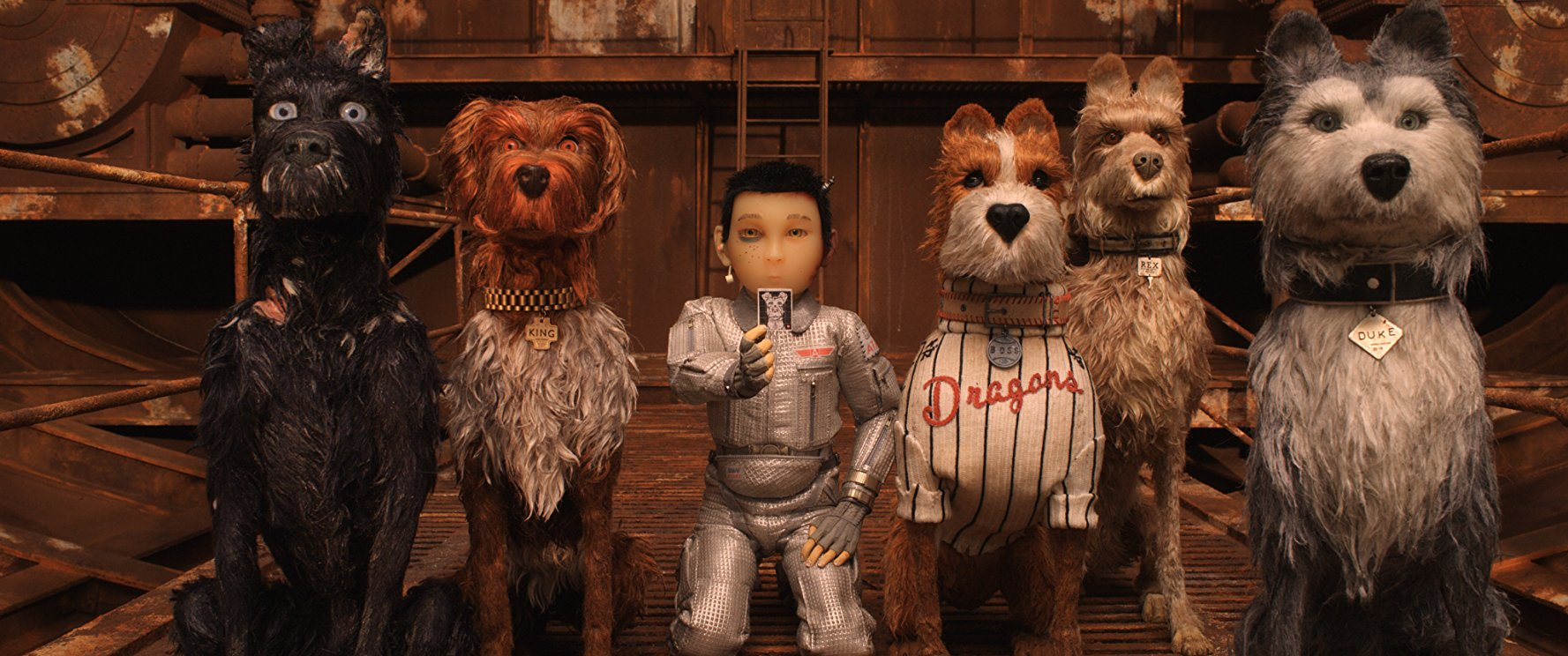 Atari and the dogs of Trash Island in Isle of Dogs (2018)