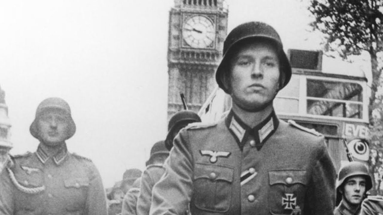 German stormtroopers marching in the streets of London in It Happened Here (1965)