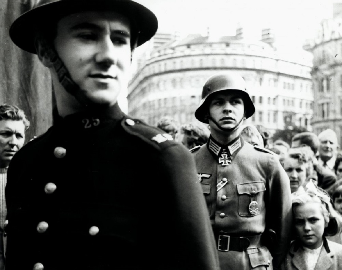 Nazi soldiers in the streets in It Happened Here (1965)