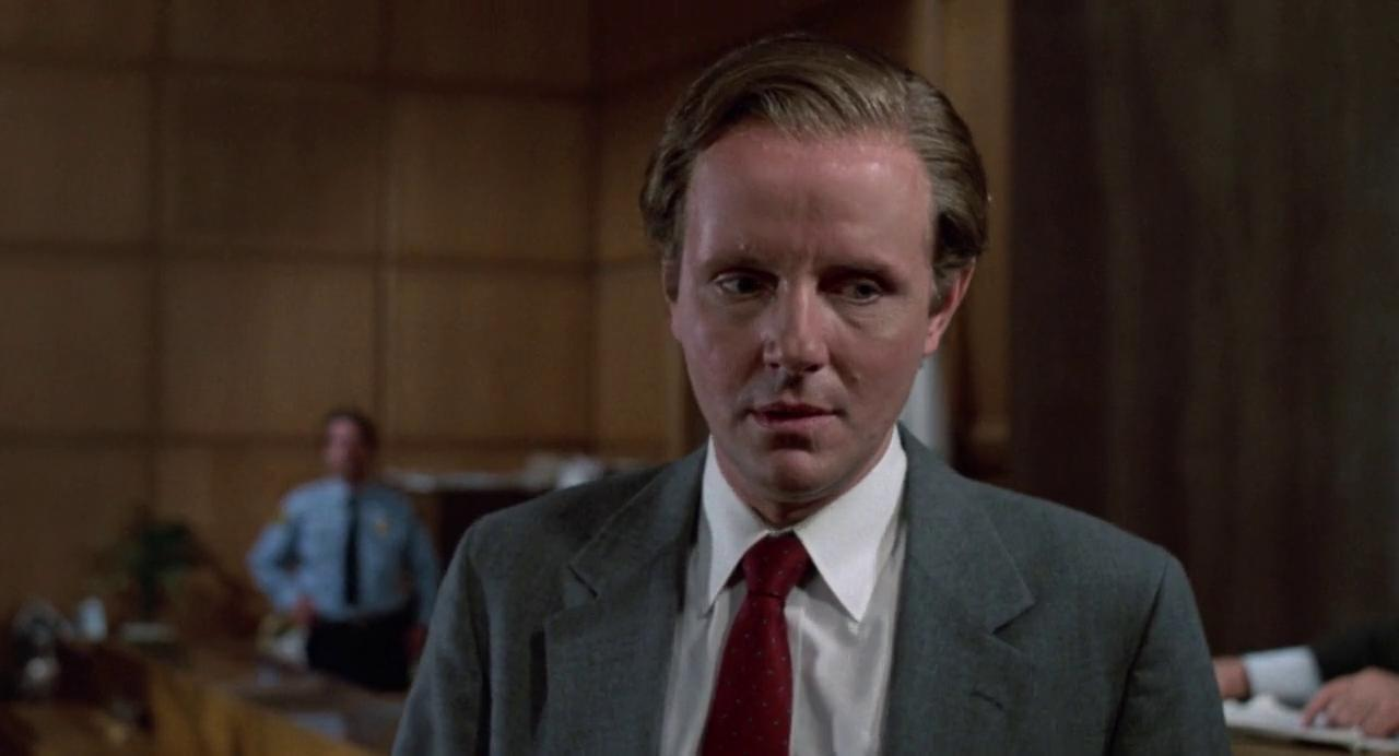 Michael Moriarty giving a remarkable performance in the courtroom scene in It's Alive III: Island of the Alive (1987)