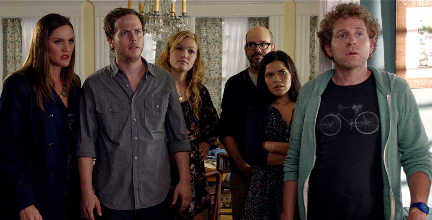 Cast line-up - Erinn Hayes, Blaise Miller, Julia Stiles, David Cross, America Ferrera, Jeff Grace in It's a Disaster (2012)