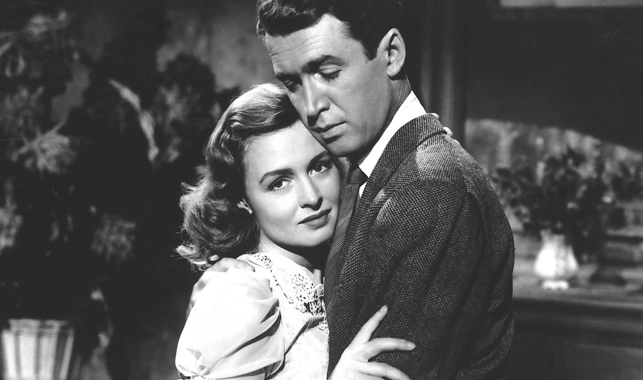 Donna Reed, James Stewart in It's a Wonderful Life (1946)