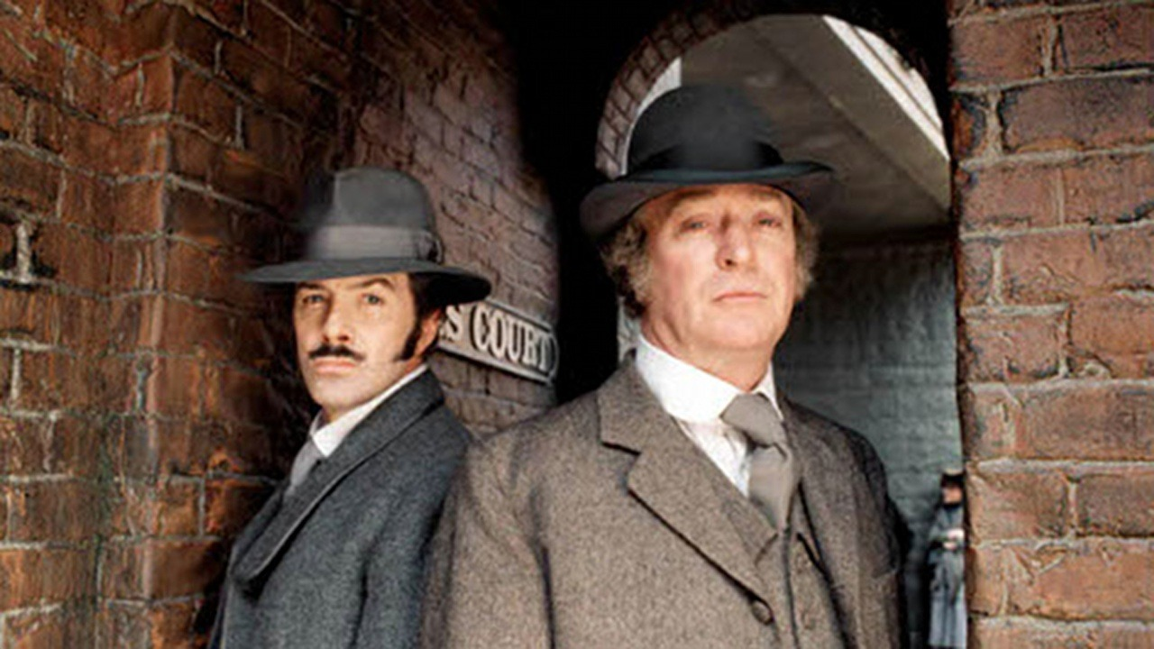 Michael Caine and Lewis Collins in Jack the Ripper (1988)