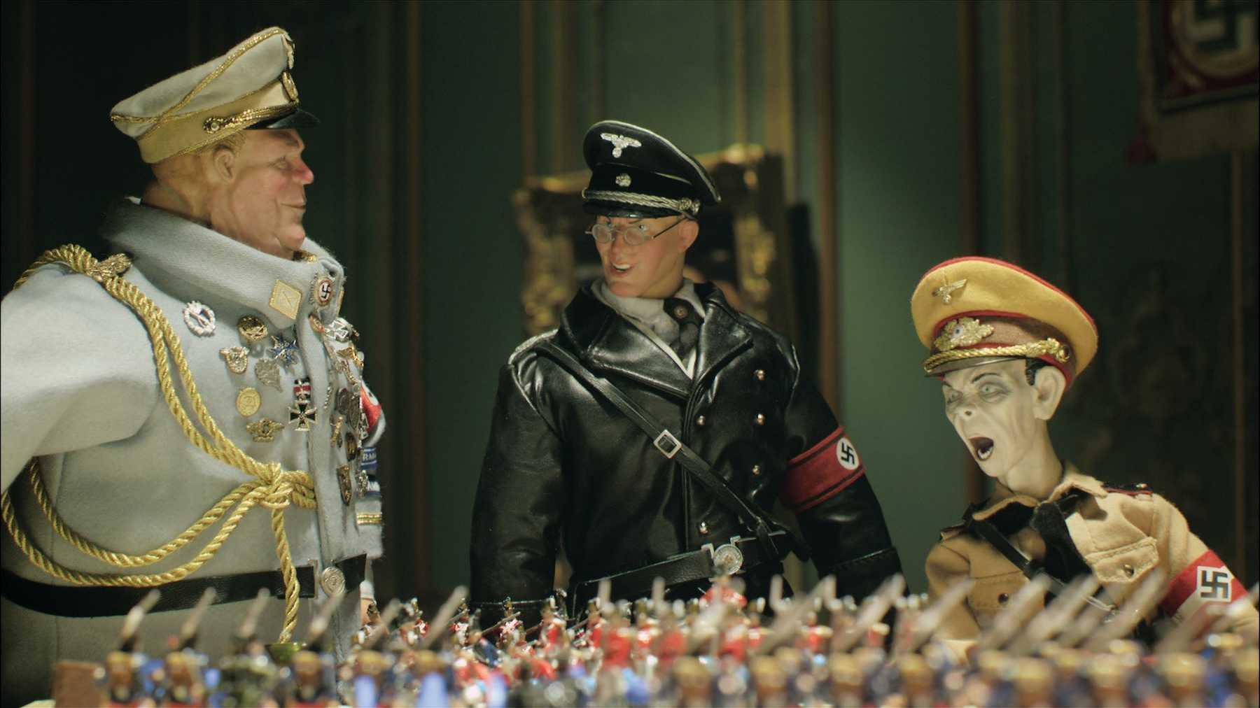 The Nazi leadership plot the invasion of England in Jackboots on Whitehall (2010)