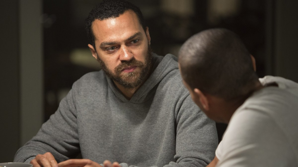 Jesse Williams as Jacob's brother Isaac in Jacob's Ladder (2019)
