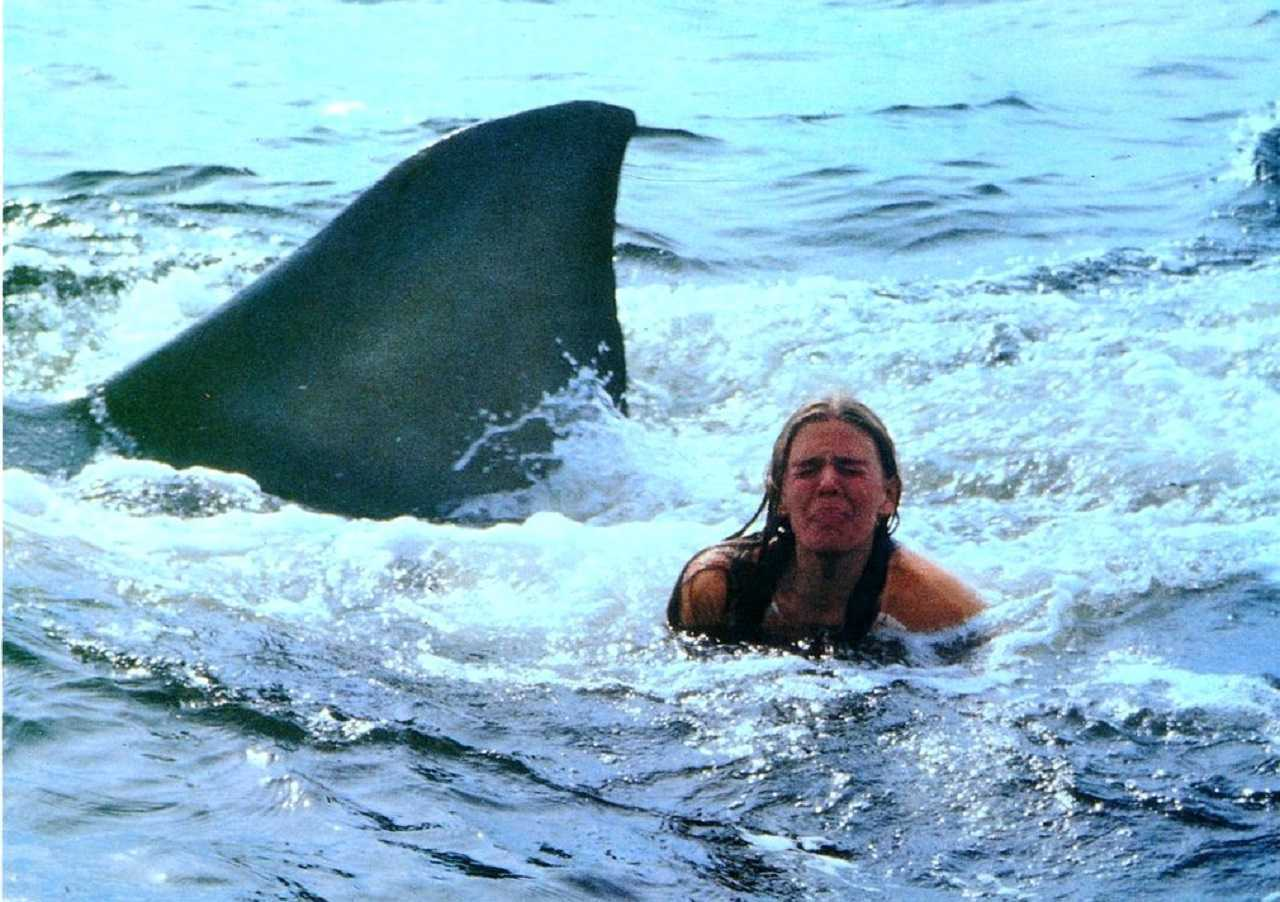 Cindy Grover goes swimming with the sharks in Jaws 2 (1978)