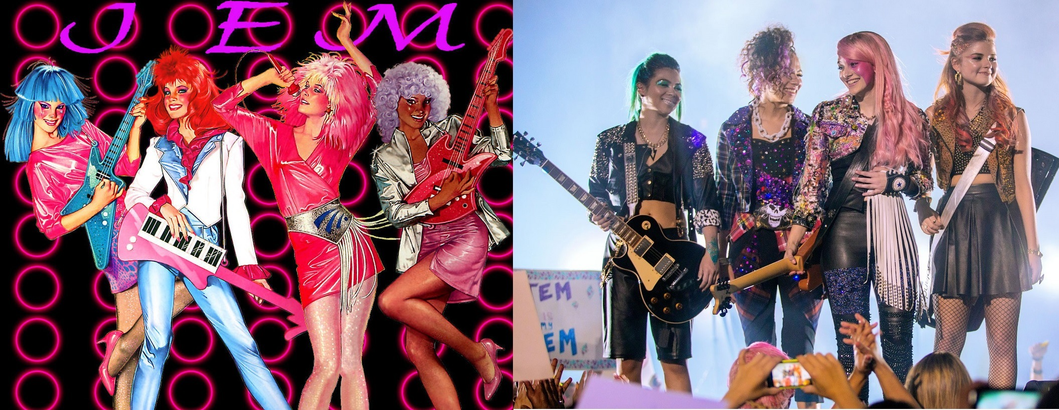 Jem and the Holograms animated vs live-action
