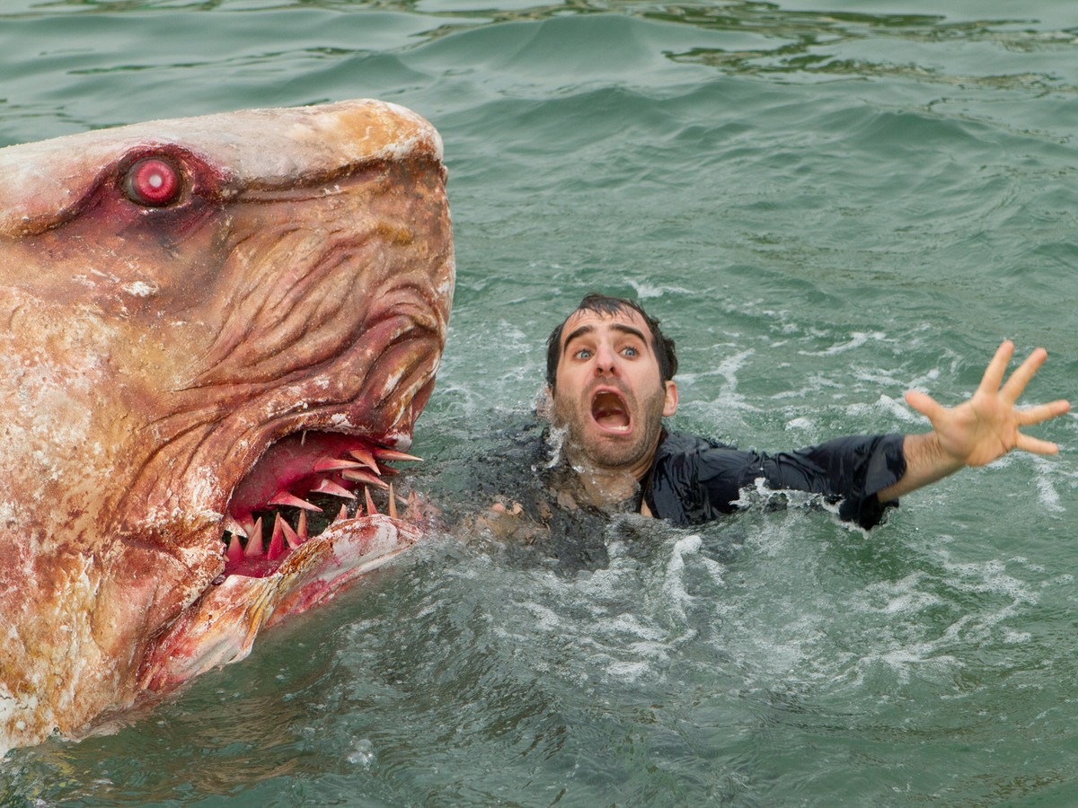 Ben Giroux gets eaten in Jersey Shore Shark Attack (2012)