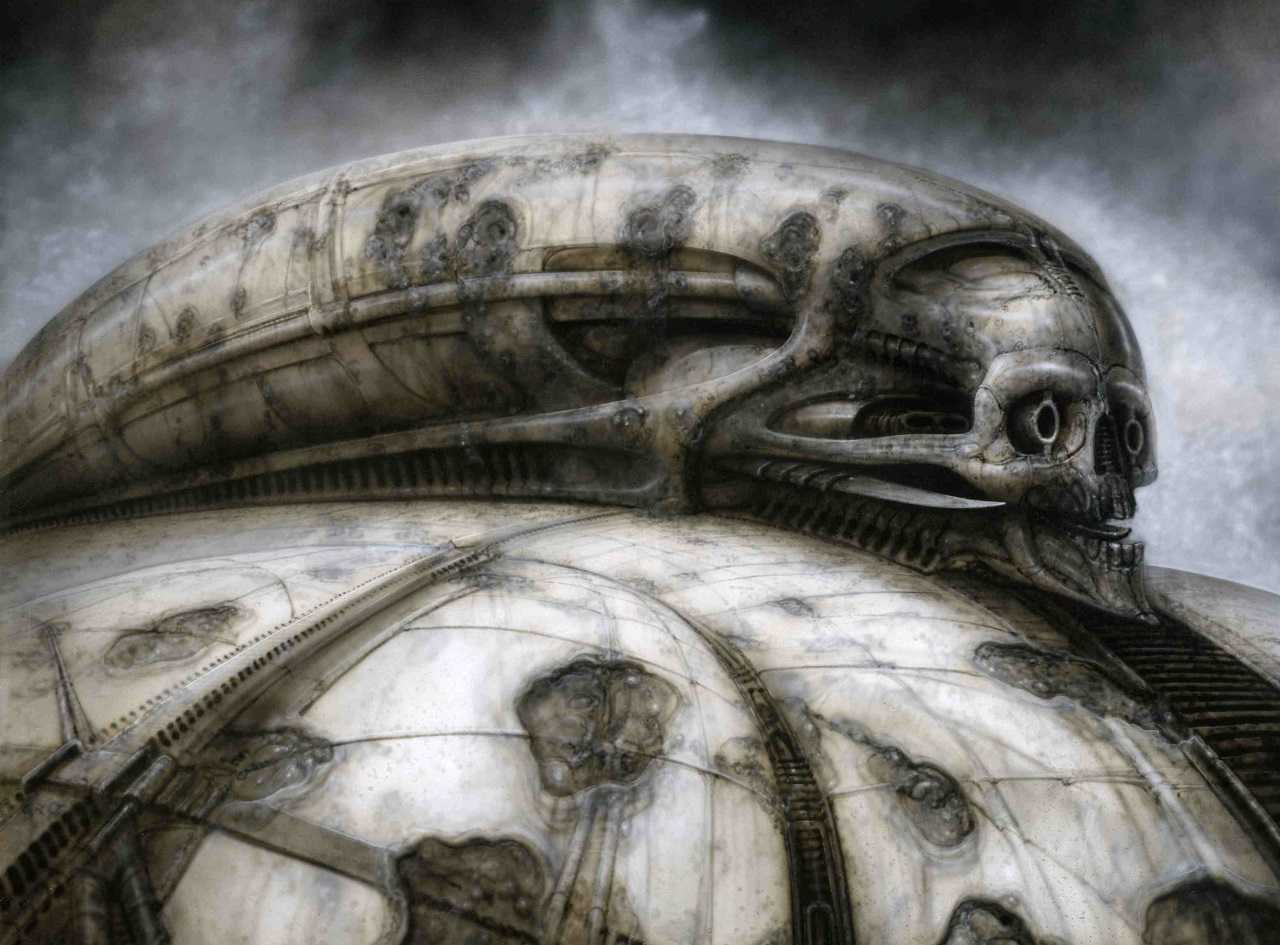 H.R. Giger's concept art for the Harkonnen homeworld in Jodorowsky's Dune (2013)