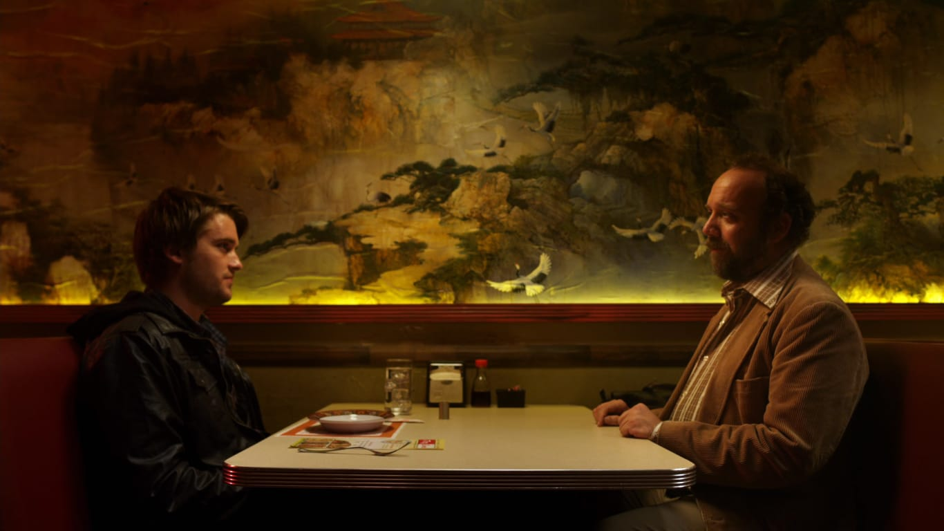 David Wong (Chase Williamson) sits down to tell his incredible story to writer Paul Giamatti in John Dies at the End (2012)