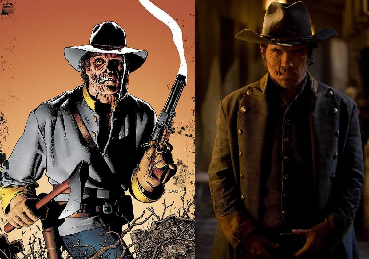 The comic-book Jonah Hex vs Josh Brolin as Jonah Hex