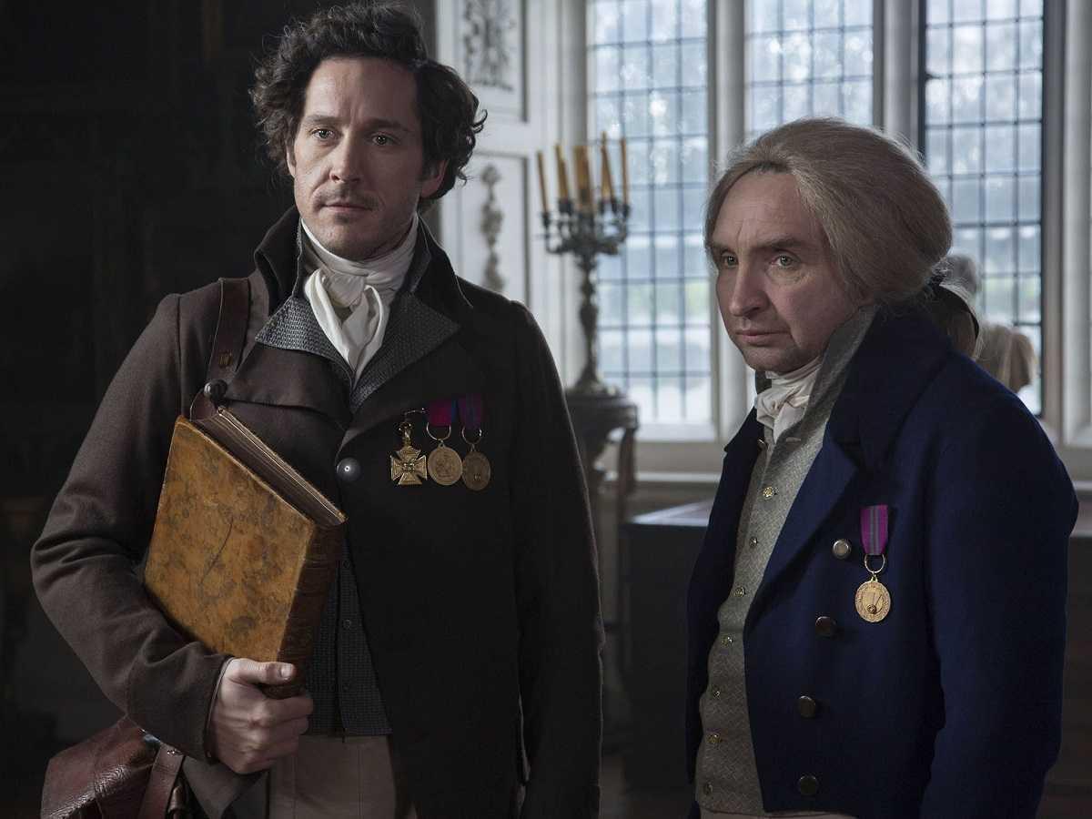 (l to r) Jonathan Strange (Bertie Carvel) and Gilbert Norrell (Eddie Marsan) in Jonathan Strange & Mr Norrell (2015)