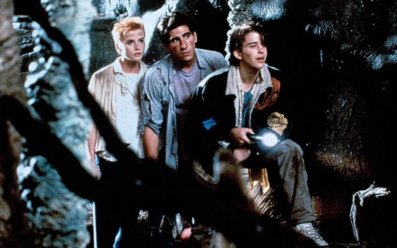 Teens venture underground - (l to r) Nicola Cowper, Paul Carafotes and Ilan Mitchell-Smith in Journey to the Center of the Earth (1988)