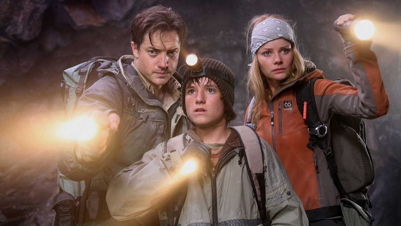 Brendan Fraser, Josh Hutcherson and Anita Briem in Journey to the Center of the Earth 3D (2008)