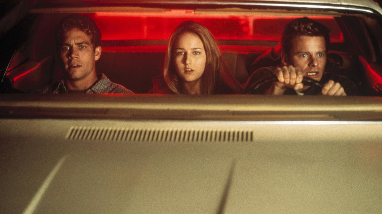 Three people on a road trip - Paul Walker, Leelee Sobieski, Steve Zahn in Joy Ride (2001)