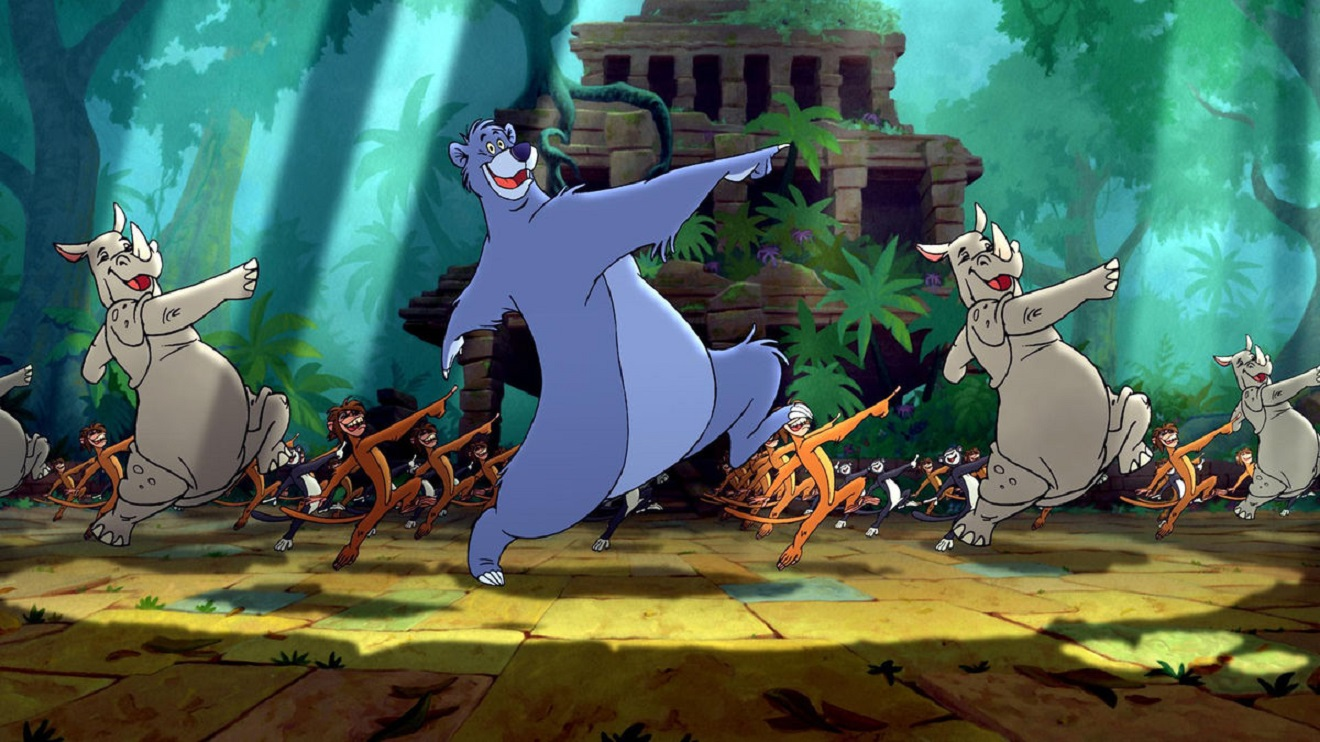 Singing and dancing jungle animals in The Jungle Book 2 (2003)