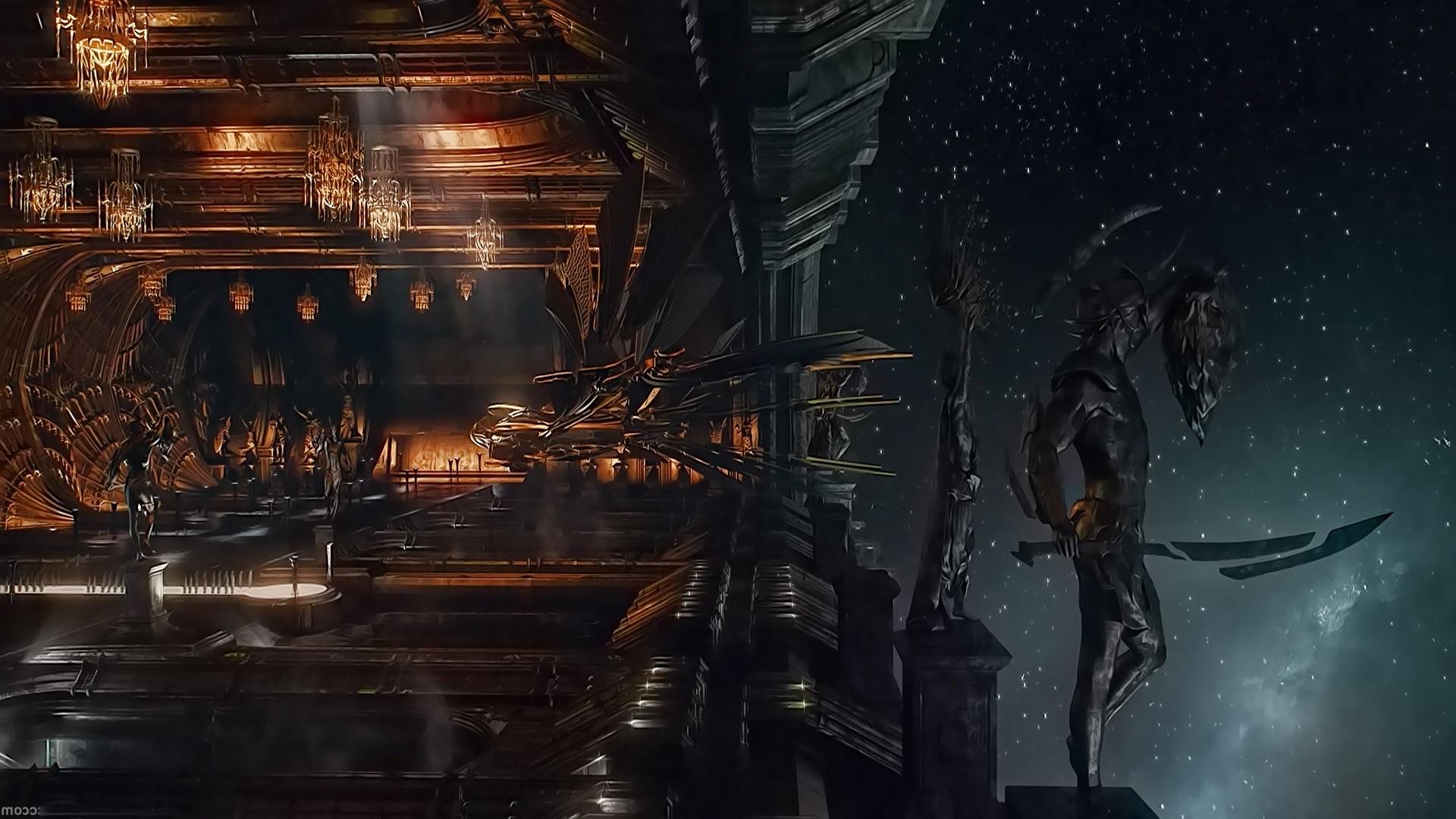 The stunning set designs for the Abrasax base on Jupiter in Jupiter Ascending (2015)