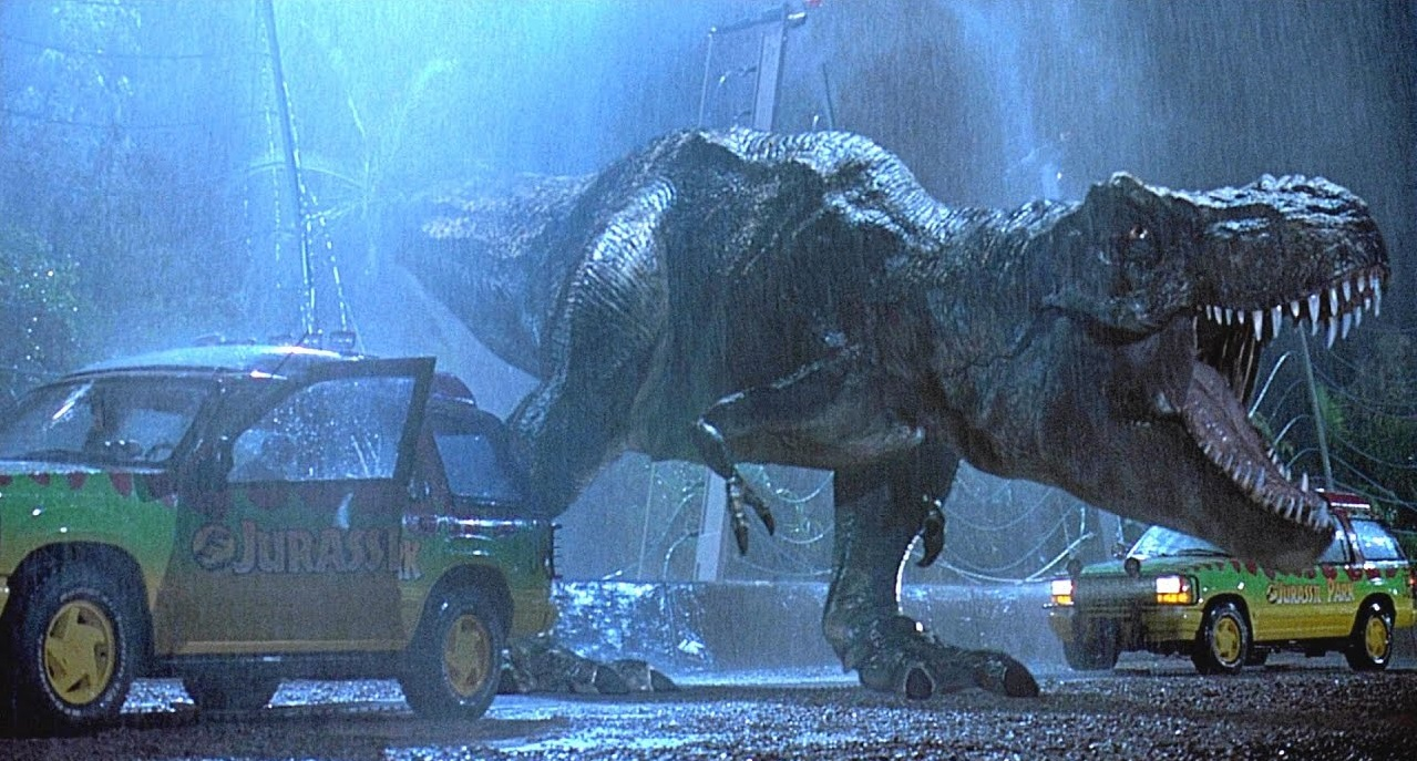 The T-Rex in Jurassic Park (1993)