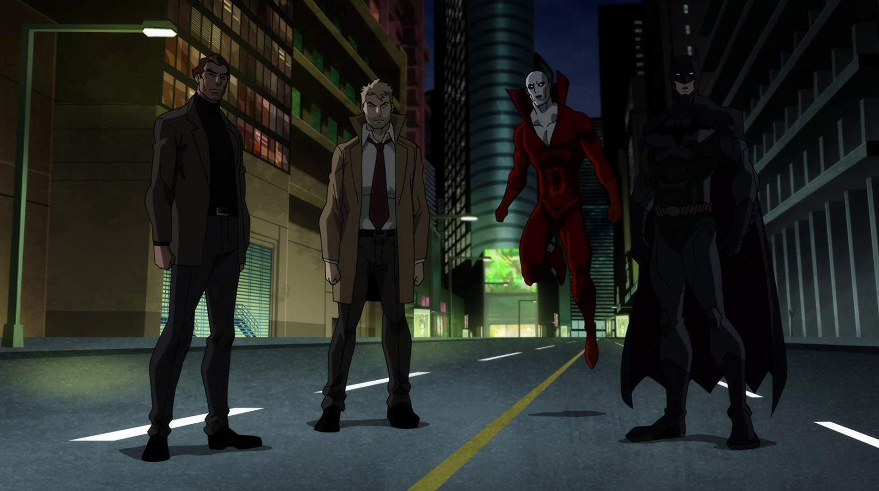 Jason Blood, John Constantine, Deadman and Batman in Justice League Dark (2017)