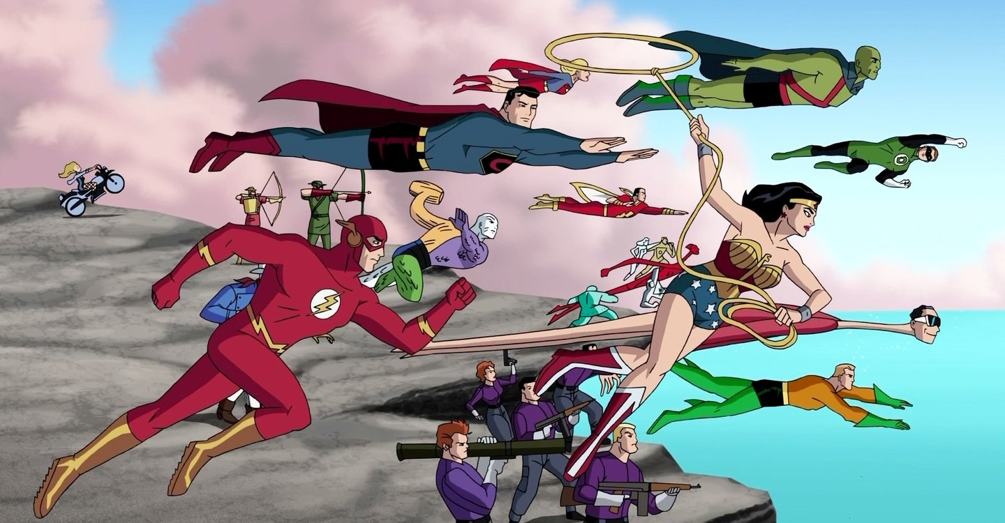 Justice League line-up in Justice League The New Frontier (2008)