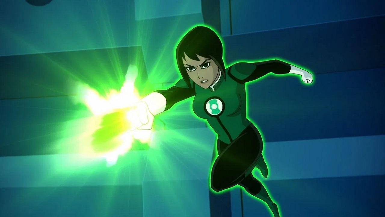 The Green Lantern Jessica Cruz (Diane Guerrero) in Justice League vs the Fatal Five (2019) 1