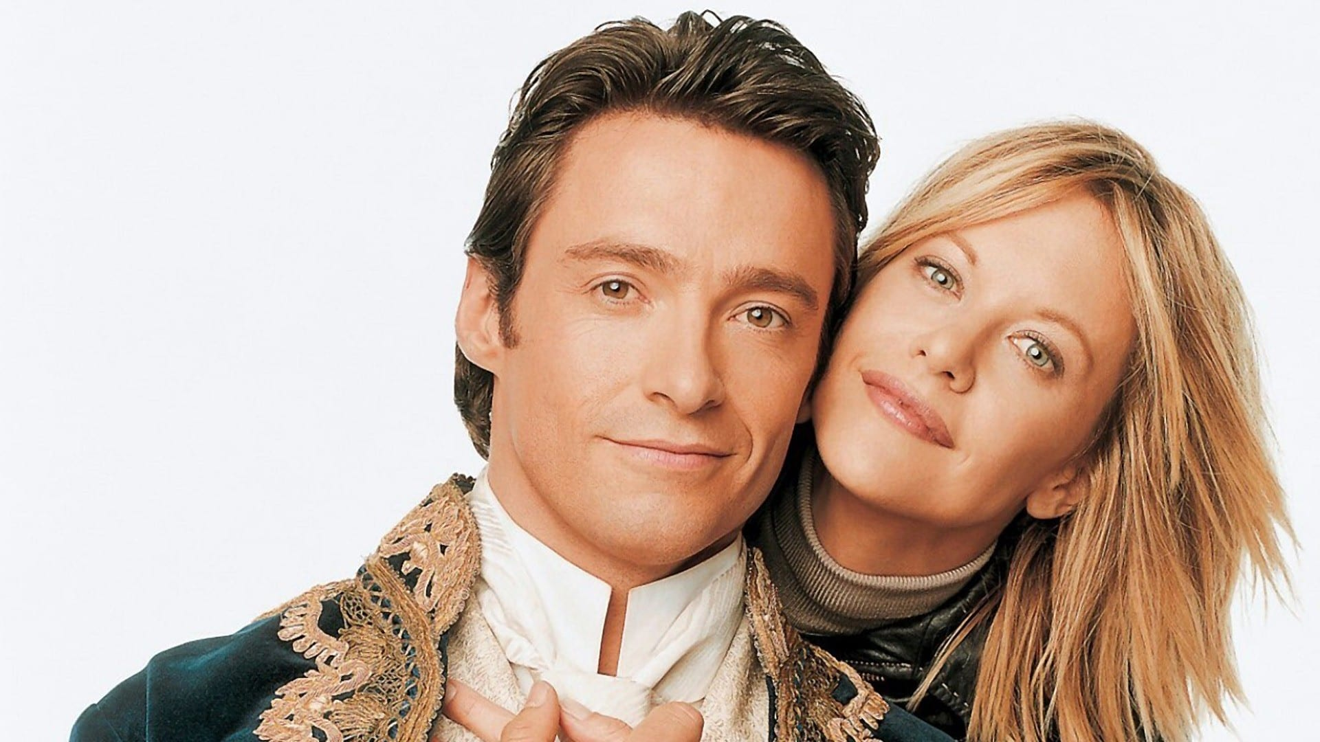 Leopold (Hugh Jackman) travelled thrugh time from the 19th Century to romance modern girl Kate (Meg Ryan) in Kate & Leopold (2001)