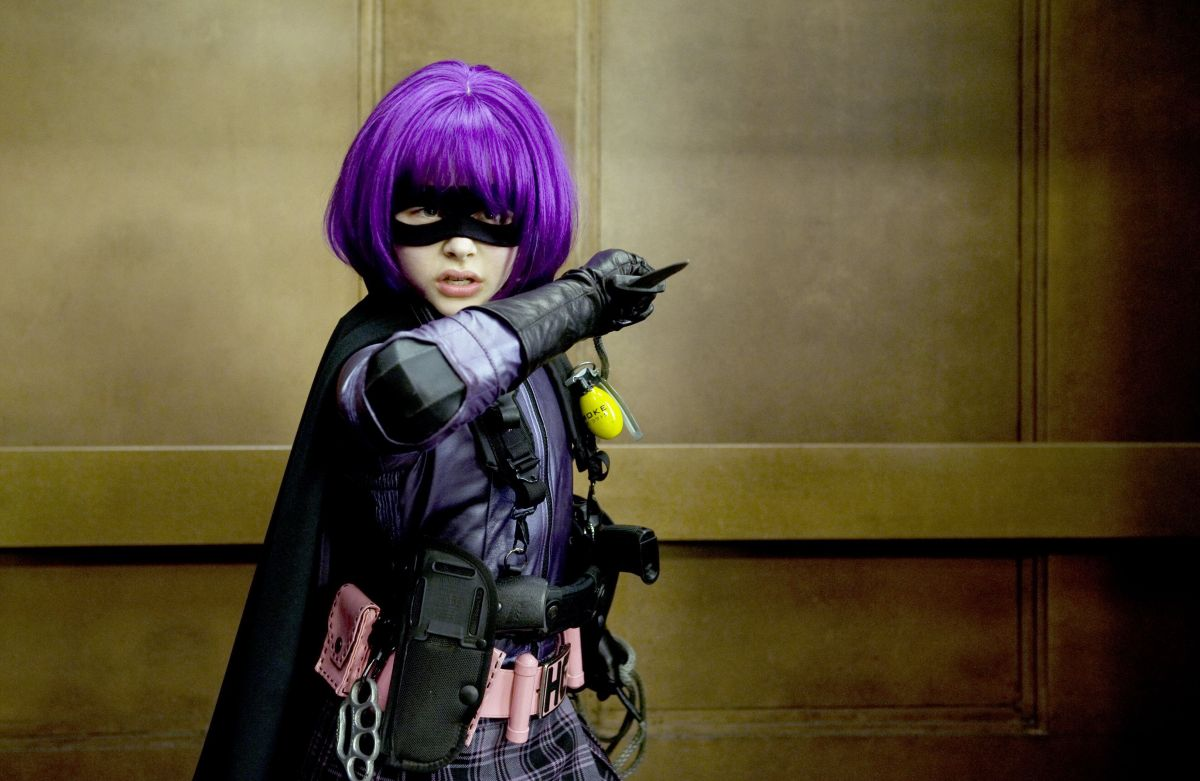 Chloe Grace Moretz as the scene stealing Mindy Macready aka Hit Girl in Kick-Ass (2010)