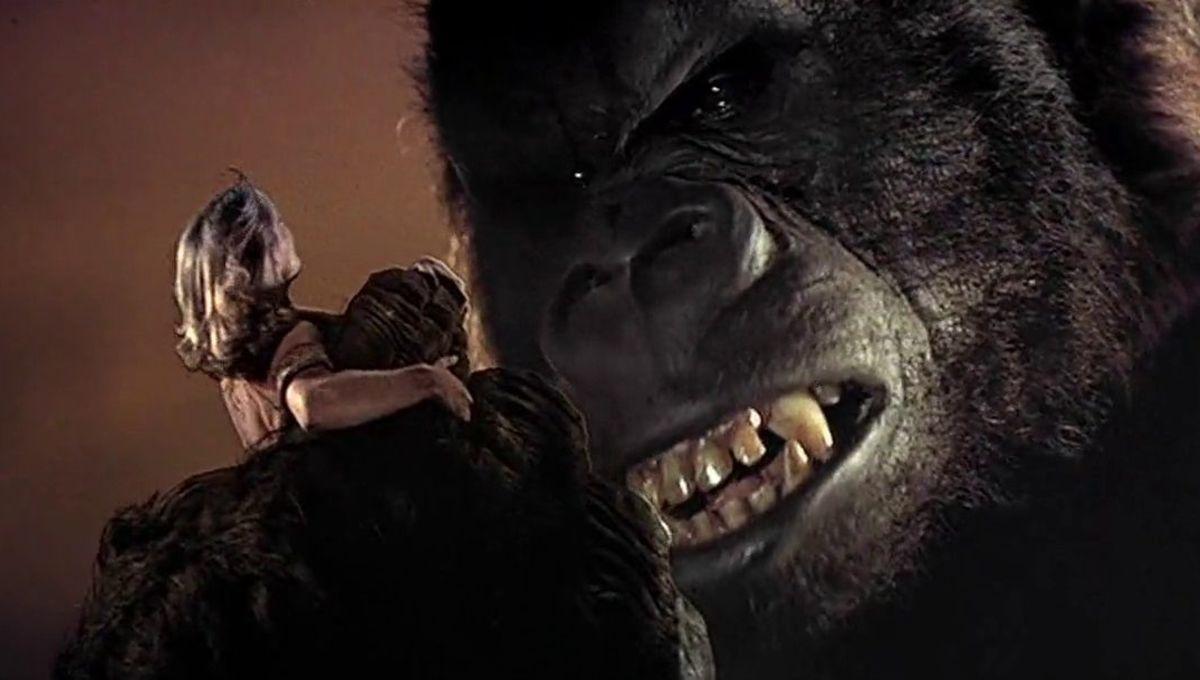 Rick Baker in an ape suit in King Kong (1976)