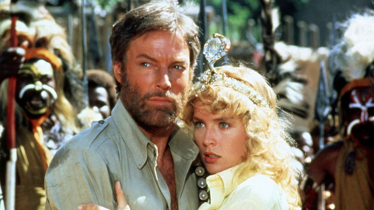 Richard Chamberlain and Sharon Stone in King Solomons Mines (1985)