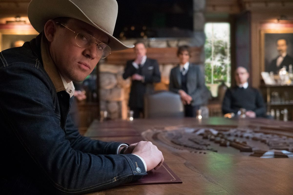 Channing Tatum as the Statesman operative Tequila in Kingsman: The Golden Circle (2017)